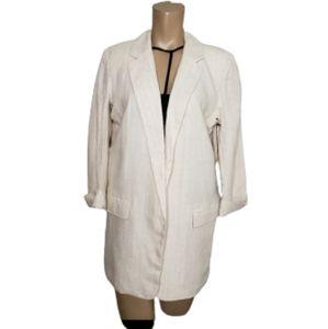 Harve Bernard stripes  linen jacket blazer  size 8